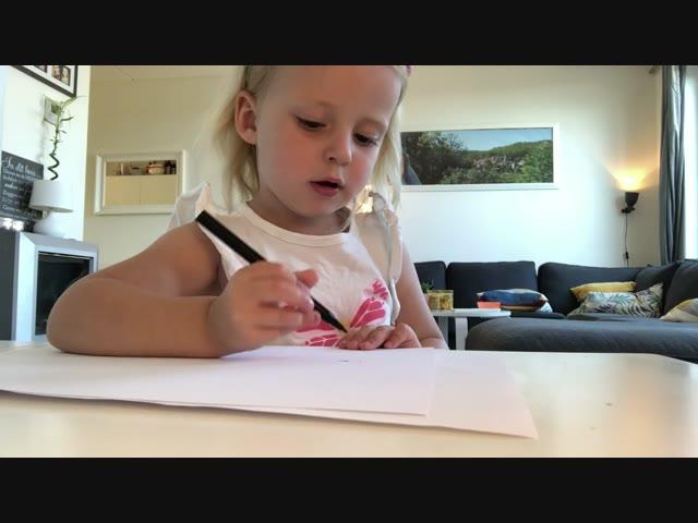 DE TEKEN CHALLENGE ( 3 jaar)  | #LucillaBellinga #71 #DeBellingaS #FamilieVloggers.nl #FamilyVloggers.com